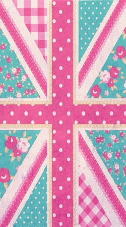 coque Drapeau Union Jack Girly