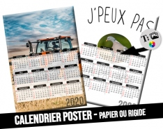 Calendrier photo 30x43cm format A3