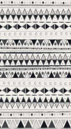 coque Ethnic Candy Tribal in Black and White