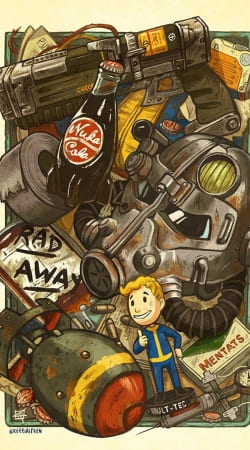 coque Fallout Painting Nuka Coca