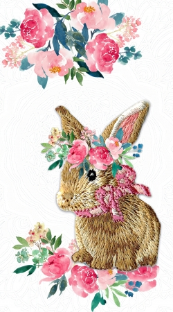 coque Flower Friends bunny Lace Lapin