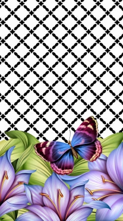 coque flower power Butterfly