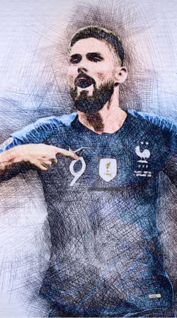 cover Giroud The French Striker