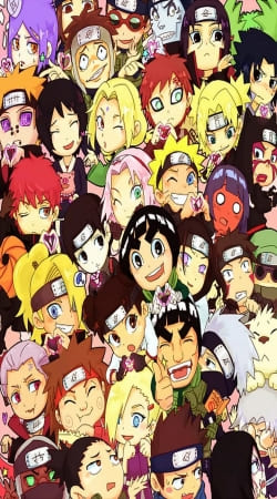 coque Naruto Chibi Group