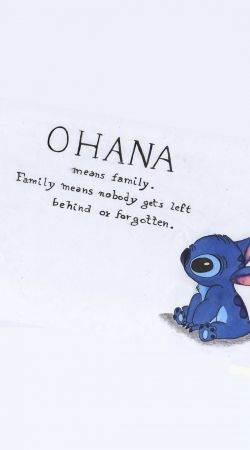 coque Ohana signifie famille