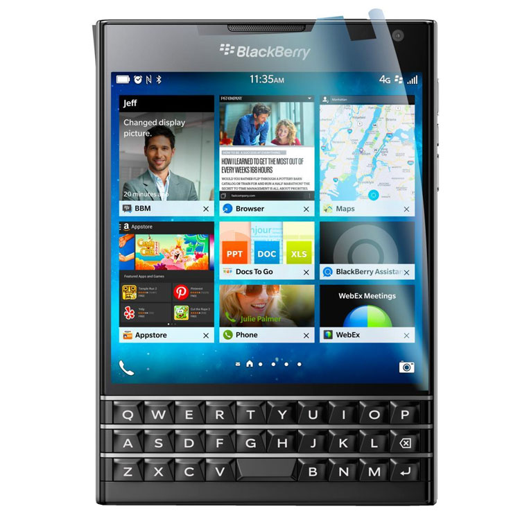 acheter Pack de 2 films de protection BlackBerry Passport anti rayures