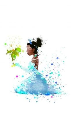 coque Princess Tiana Watercolor Art