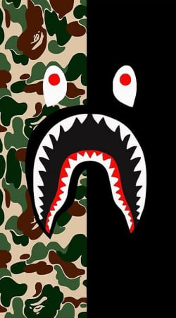 coque Shark Bape Camo Military Bicolor