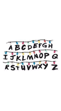 coque Stranger Things Guirlande Alphabet Inspiration