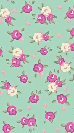 coque Pattern Roses Vintage