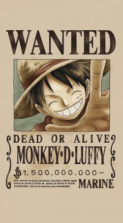 coque Wanted Luffy Pirate