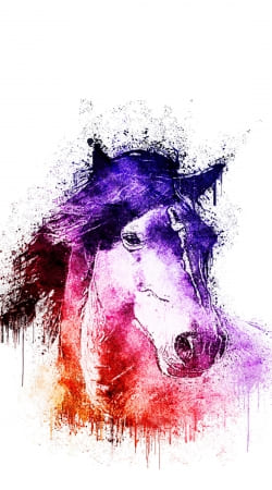 coque watercolor horse