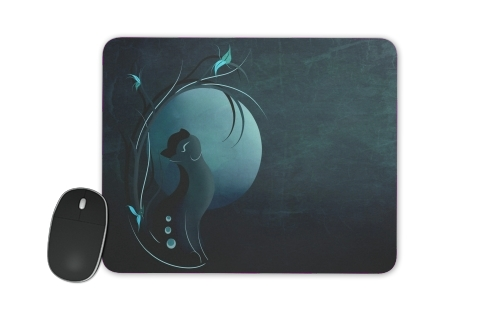 tapis de souris sensual cat in the moonlight