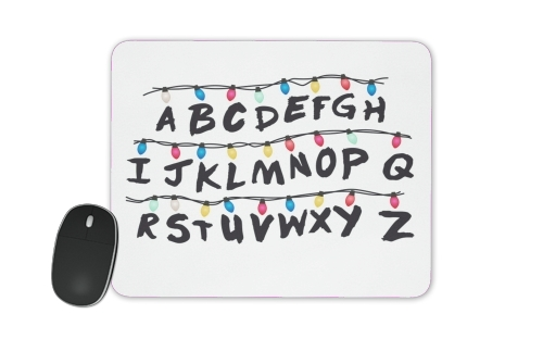 tapis de souris Stranger Things Lampion Alphabet Inspiration