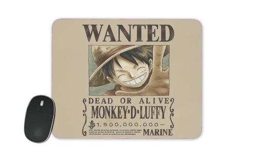 tapis de souris Wanted Luffy Pirate