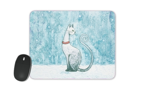 tapis de souris Winter Cat