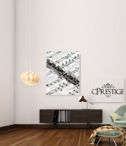poster Clarinette Musical Notes