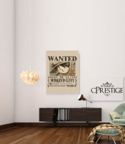 poster Wanted Luffy Pirate