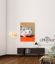 poster White Dalmatian Hamster with black spots
