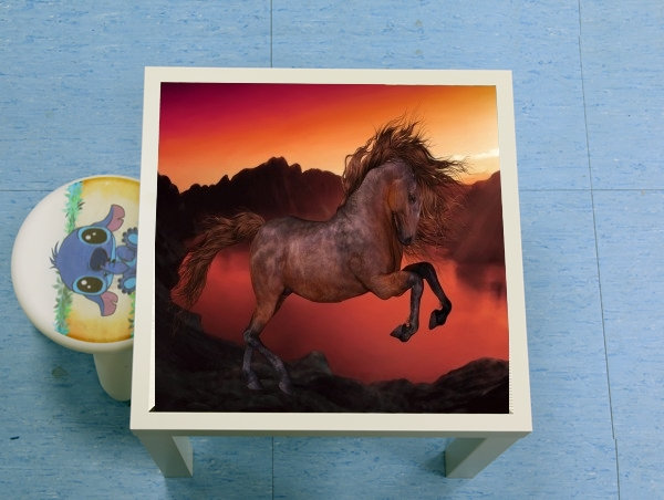 table d'appoint A Horse In The Sunset