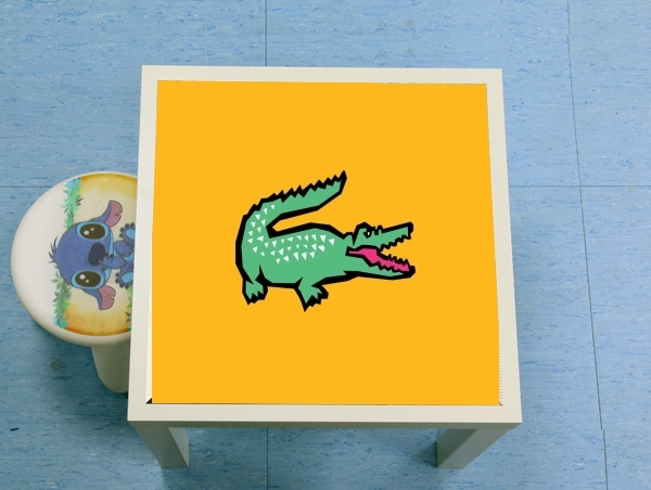 table d'appoint alligator crocodile lacoste
