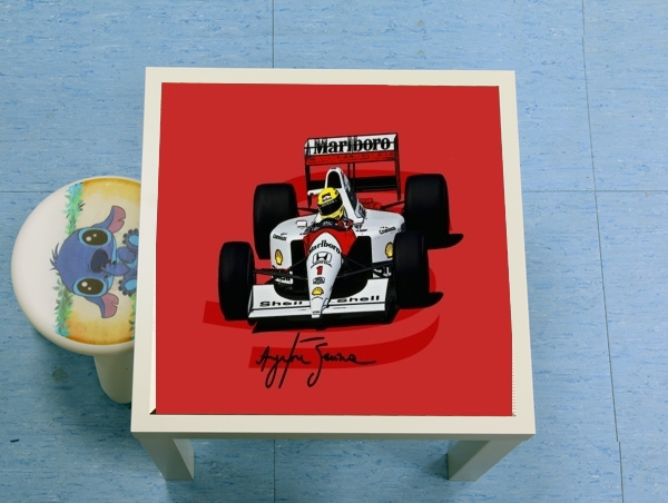 table d'appoint Ayrton Senna Formule 1 King