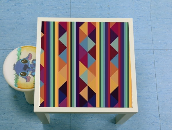 table d'appoint Aztec Pattern Pastel