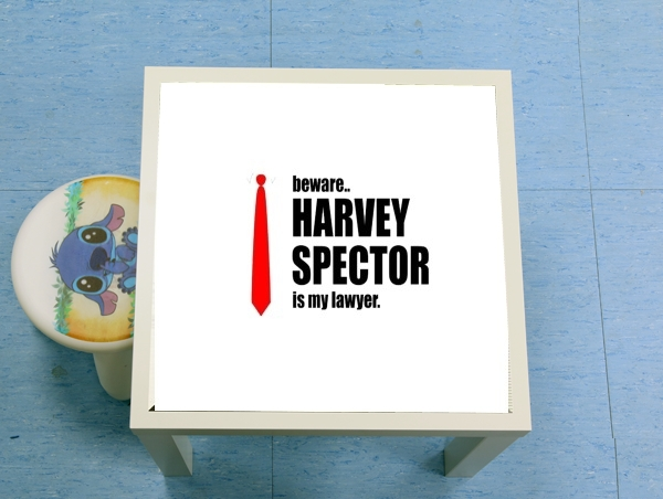 table d'appoint Beware Harvey Spector is my lawyer Suits