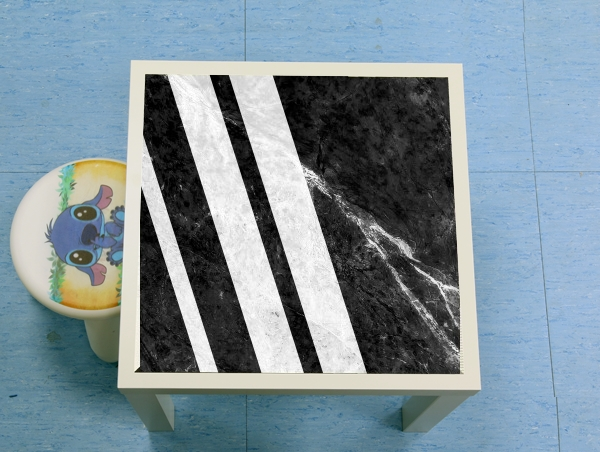 table d'appoint Black Striped Marble