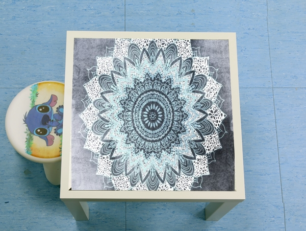 table d'appoint Bohochic Mandala in Blue