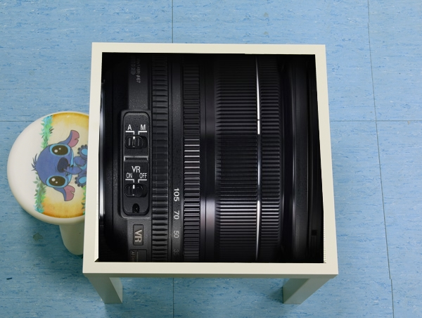 table d'appoint Camera Lens