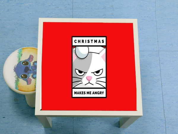 table d'appoint Christmas makes me Angry cat