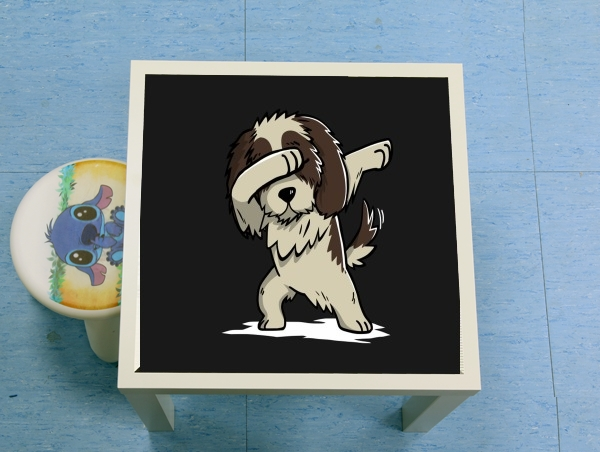 table d'appoint Dog Shih Tzu Dabbing