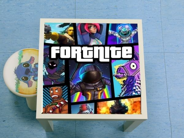 table d'appoint Fortnite - Battle Royale Art Feat GTA