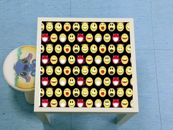 table d'appoint funny smileys