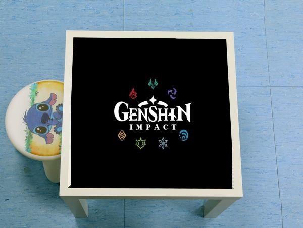 table d'appoint Genshin impact elements