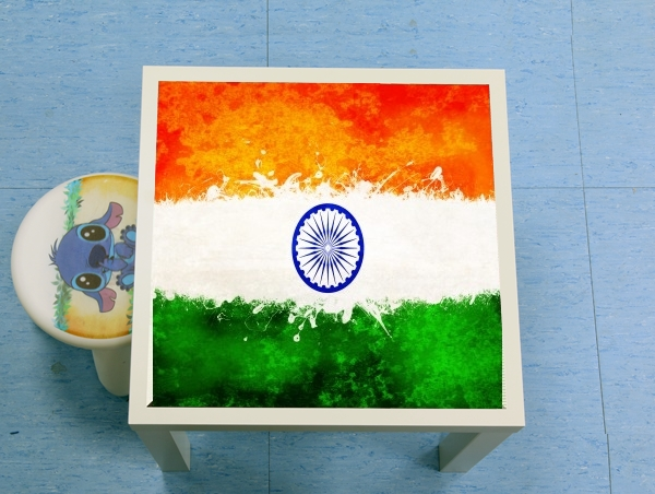 table d'appoint Indian Paint Spatter