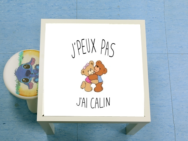 table d'appoint Je peux pas jai calin