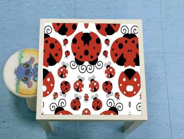 table d'appoint coccinelle