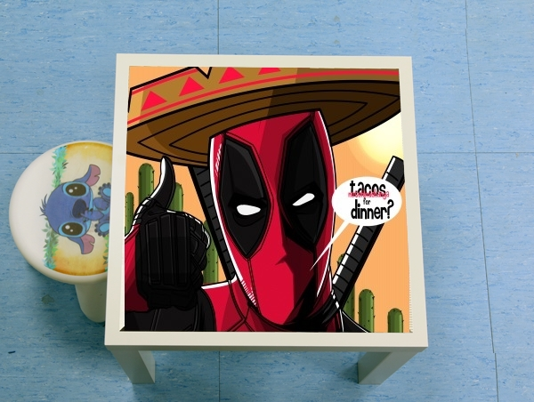 table d'appoint Mexican Deadpool