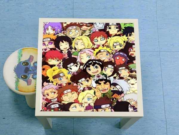 table d'appoint Naruto Chibi Group