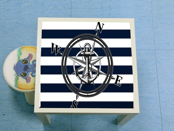 table d'appoint Navy Striped Nautica