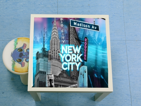 table d'appoint New York City II [blue]