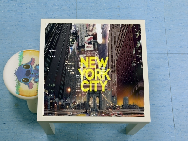 table d'appoint New York City II [yellow]