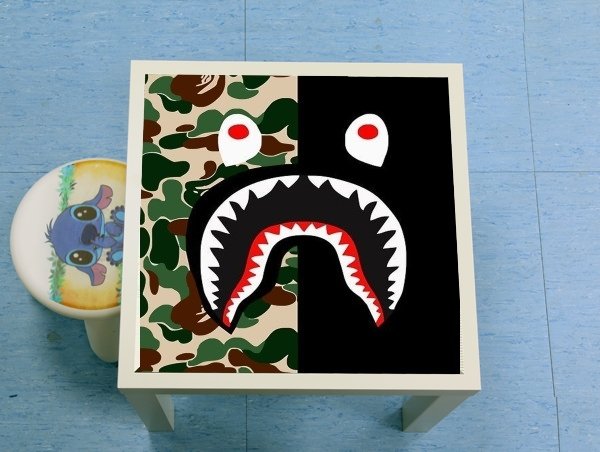 table d'appoint Shark Bape Camo Military Bicolor