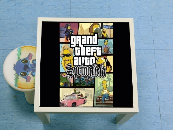 table d'appoint Simpsons Springfield Feat GTA