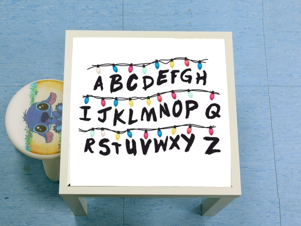 table d'appoint Stranger Things Lampion Alphabet Inspiration