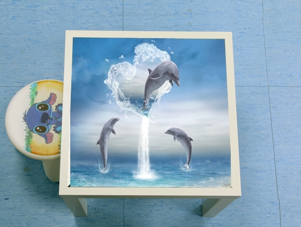 table d'appoint The Heart Of The Dolphins