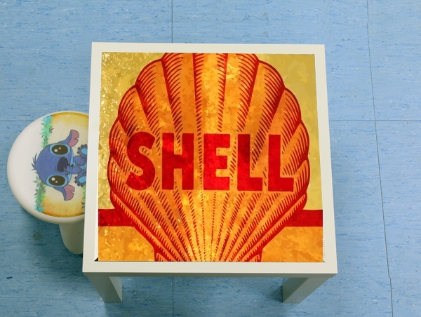 table d'appoint Vintage Gas Station Shell