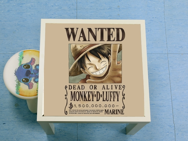 table d'appoint Wanted Luffy Pirate